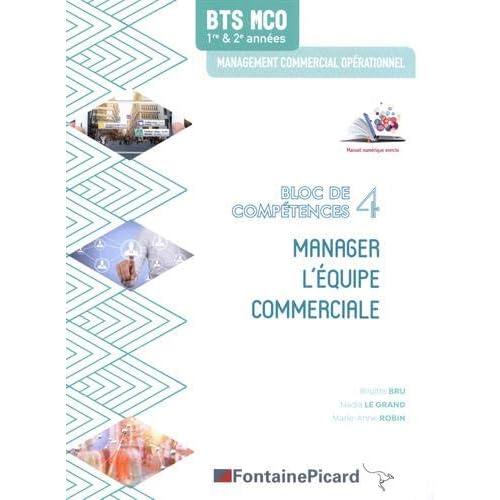 Manager l'équipe commerciale BTS MCO bloc de compétences 4