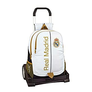 411IC3756WL. SS324  - Real Madrid CF Mochila con Carro Ruedas Evolution, Trolley