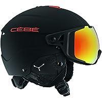 Cébé Element Visor Cascos de ski, Unisex Adulto, Matt Black Red, 56-59 cm