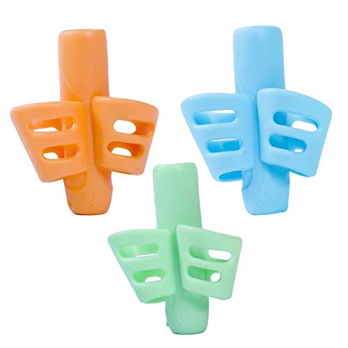 Kinder Grip Haltungskorrektur Werkzeuge Zwei-Finger-Griff Stifthalter eine Sekunde Positionierung Schreiben Haltungskorrektur 3pcs (Zwei-finger-doppel-ringe)