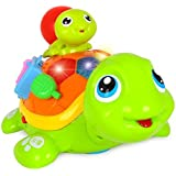 Wishtime Baby Crawl Parent-child Turtle Toys with Songs&Crawling Action Developments Toys