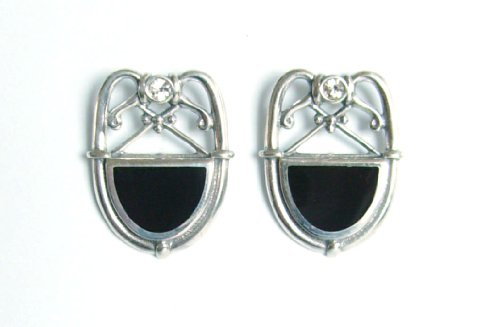Art Deco Damen Ohrringe Ohrstecker 925 Silber