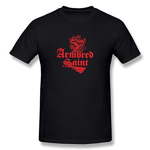 Sluggish min Men's Armored Saint Band Logo T-shirt Black Tee