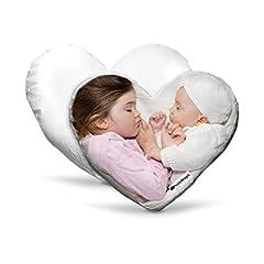 Idea Regalo - CUSCINO A CUORE PERSONALIZZABILE Con foto immagini e scritte 40x40cm - Regalo San Valentino