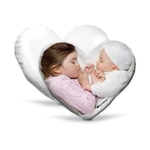 CUSCINO A CUORE PERSONALIZZABILE Con foto immagini e scritte 40x40cm - Regalo San Valentino