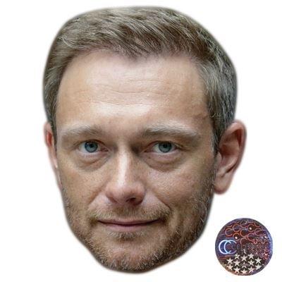Christian Lindner Maske aus Pappe