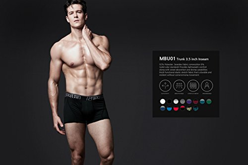 Tesla da uomo Cool Dry 7,6cm breve maglia stretch Underwear tronco (2-pack) MBU01 TM-MBU01-BRP