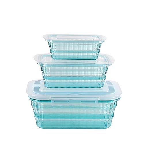 Frische Storage BoxSparpackung Stück Food Storage Set Lebensmittel Lagerbehälter Lebensmittelbehälter Sets mit Deckeln Geeignet Quadratisch Blau Square Food Storage Set
