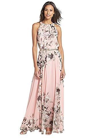 Miss Floral® Womens Sleeveless Floral Print Summer Maxi Dress Size 6 - 14