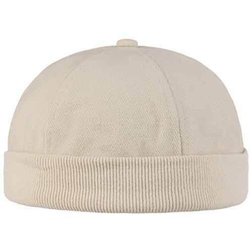 Hutshopping Cotton Dockercap Herren | Mütze aus 100% Baumwolle | Docker in Einheitsgröße (54-61 cm) | Cap mit Klettverschluss | Hafenmütze in beige | ganzjährig tragbar