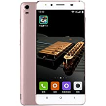 "Smartphones Telefono Moviles Libres Baratos, BeautyTop 5"" Ultradelgada Android4.4 Octa-Core 4G+2G 2G/GSM WiFi Bluetooth Dual SIM Dual Celular Inteligente (Oro rosa, Tamaño libre)"