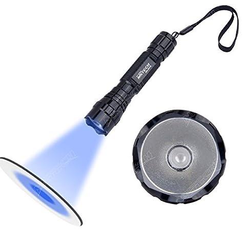Nktech Nk-501b 1-mode UV LED 365nm Violet rétroéclairage recherche lampe de poche Camping Lampe torche Head Light Lampe pour extérieur/intérieur