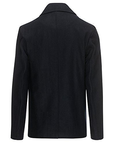 Henri Lloyd M00811 Harling Melton Pea Coat Navy