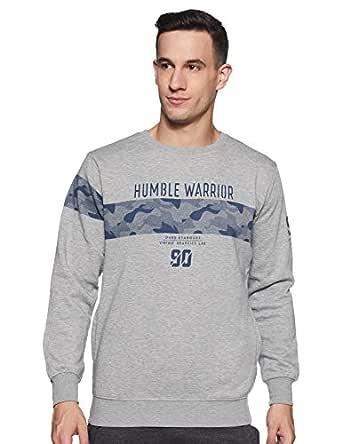 Duke Men's Fleece Sweatshirt (LF3463_M.Grey Melange_2XL)
