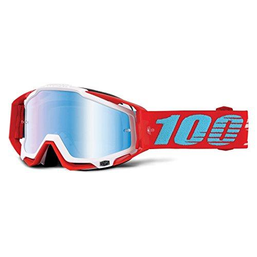 Inconnu 100{b13253c5c04e081b9c1bc54489a27f0a45cf61bfd0b9d07e37b0ad9e924d6941} Accuri MTB-Brille, für Mountainbike, Unisex, Erwachsene, Rot/Weiß