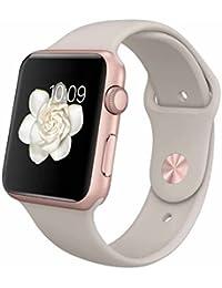 Apple Watch Sport 42mm Rose Gold Funda de aluminio con piedra Sport Band