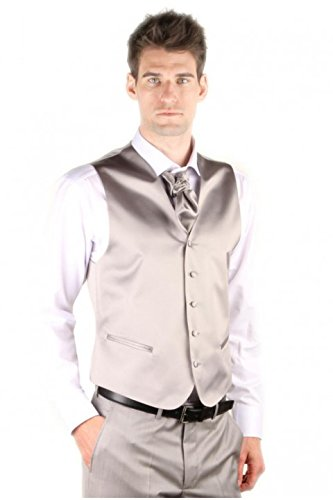 Dymastyle-Satin-Gray-Vest-Wedding