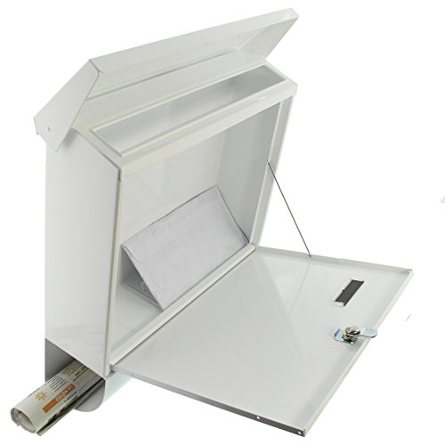 BURG-WÄCHTER, Briefkasten-Set mit Zeitungsbox A4 Einwurf-Format, Verzinkter Stahl, Set Vario W, Weiß - 5