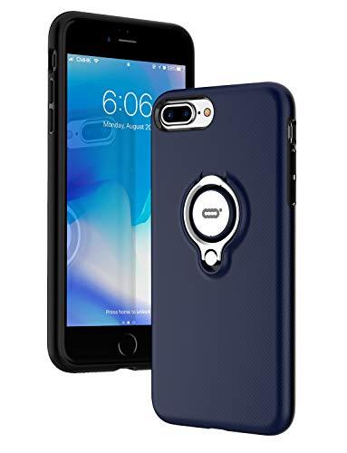 ICONFLANG iPhone 7 Plus Hülle, iPhone 8 Plus Tasche mit Ringständer, 360 Grad drehbarer Ring Grip Case, Dual Layer Stoßfest Schlagschutz für iPhone 8 Plus / 7Plus,Kompatibel mit Magnetic Car Mount