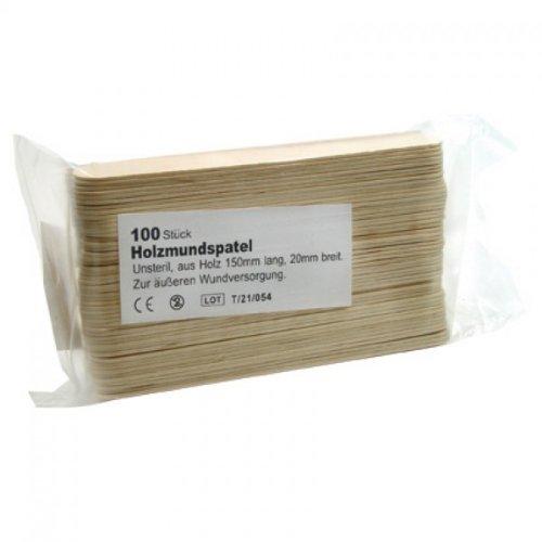 100 Stück Mundspatel aus Holz zur äußeren Wundversorgung