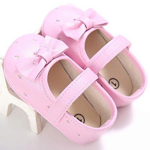 Omiky® Mode 2017 Kleinkind Mädchen Krippe Schuhe Neugeborene Blume Soft Sohle Anti-Rutsch Baby Sneakers Rosa