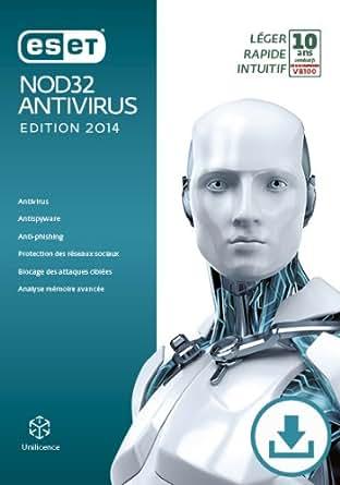 ESET NOD32 Antivirus - Édition 2014 - 3 postes - Abonnement 2 ans [Téléchargement]