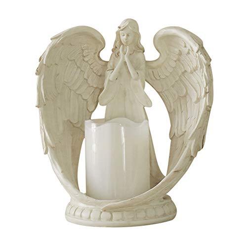 6SHINE Beten Engel Figur Flügel LED Kerze, Engel flammenlose Kerzenhalter, Engel Sammlung Figur Skulptur Statue dekorative Heimat Weihnachten Hochzeit -