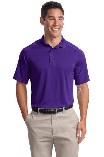 Sport-Tek Herren Button-down Poloshirt Violett