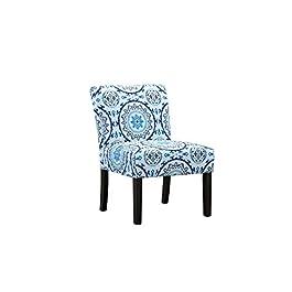 BHDesign Emmanuelle – Chaise de Salon – Style Moderne élégant – Tissu Doux – Motifs géométriques