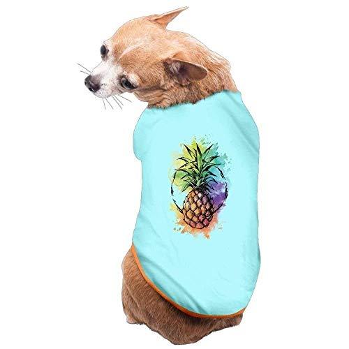 Für Ananas Hunde Kostüm - GSEGSEG Hundekleidung, Mantel, Kostüm, Pullover, Weste, für Hunde und Katzen, weich, dünn, Ananas-Kunst, 3 Größen und 4 Farben erhältlich
