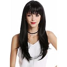 WIG ME UP ® - GF-W2274-1 Peluca mujer larga lisa flequillo atractivo