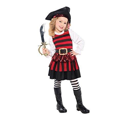 Christy's Piraten-Kostüm für Mädchen, Größe S (Piraten Mädchen Kleinkind Kostüm)