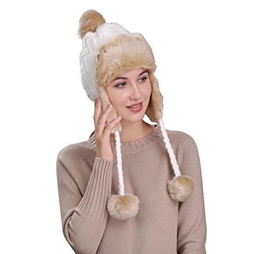 2019 nuovo cappello invernale da donna con paraorecchie, cappellino con visiera in lana e berretto di lana by wudube