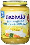 Bebivita Mini-Nudeln mit Seefisch in Rahmbroccoli, 6er Pack (6 x 190 g)