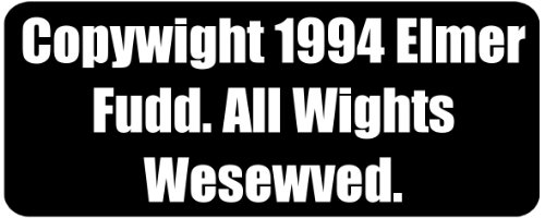 copywight-1994-elmer-fudd-all-wights-wesewved-funny-printed-coffee-mug-blk4210