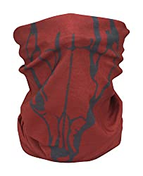 Red Fox Skull Face Multifunctional Seamless Bandana Scarf By Arctic Fox: Unisex Neck Warmer, Face Ski Mask For Outdoor Activities – Versatile Snood, Headband Or Wristband For Snowboarding, Hiking, Camping, Running from Arctic Fox