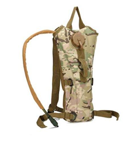 GOUQIN Outdoor Rucksack Klassische Mode 3 L Wasser Ergänzen Bewegung Tasche Auf Den Schultern Des Wasser Beutel Camping Wasser Taschen Berge Wasser Taschen Rucksack 4 Camouflage