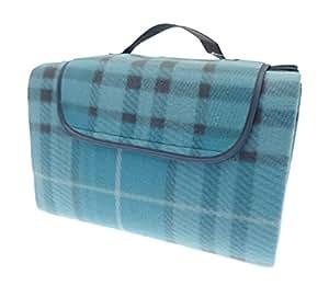 Country Club de Plage Familiale & Couverture de pique-nique 150 x 200 cm Bleu/motif Tartan