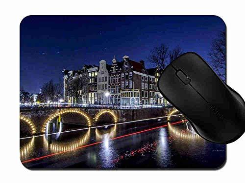 Preisvergleich Produktbild Mauspad Amsterdam City Niederlande Rutschfeste Gummi Basis Mouse pad,  Gaming und Office mauspad für Laptop,  Computer PC 1H835