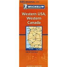 Carte RGIONAL Western USA, Western Canada