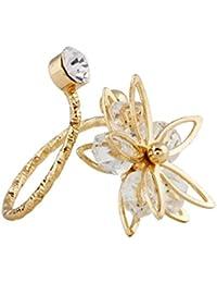 Bella Vista American Diamond And Swarovski Gold Polished Designer Ring For Women And Girls
