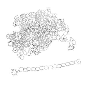 20 Sätze Anhänger Halskette Armband Verschlüsse Verlängerungskette Kettenverschluss für DIY Schmuck Basteln