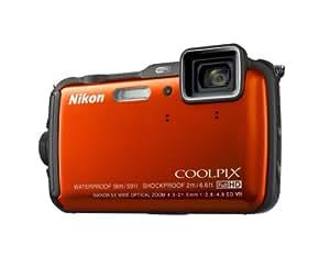"""Nikon Coolpix AW120 Appareil photo numérique compact 16 Mpix Écran LCD 3"""" Zoom optique 5X Orange"""