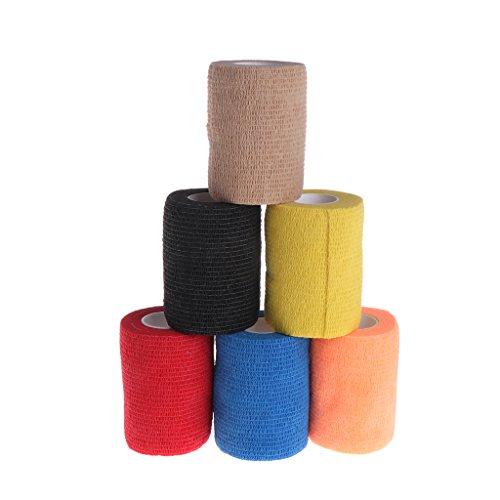 JAGENIE Gummiband Kohäsive Bandage für Haustiere, mit natürlichem Latex selbstklebend, Breite 7.5cm, zufällige Farbe -