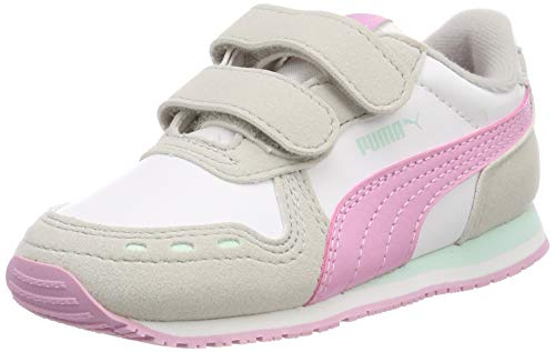 Puma Cabana Racer Sl V Inf, Unisex-Kinder Sneakers, Weiß (Puma White-Gray Violet-Pale Pink), 20 EU