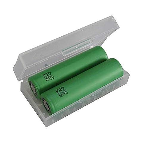 Sony Konion US 18650 VTC4 X2 Lot de 2 cellules lithium-manganèse 3,6 V 2100 mAh (Agli Ioni Di Litio A Bottone)