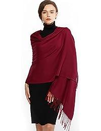RIIQIICHY Cachemire Hiver Chaud Écharpe Pashmina Châle Wrap Pour Femmes et  Hommes Longues Grandes Écharpes Douces 44c27628665