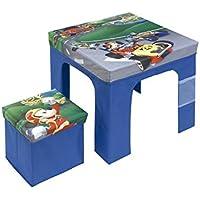 Arditex–Juego de Mesa Plegable de 50x 50x 40cm y reposapiés/Cubo de almacenaje de 25x 25x 25cm bajo Licencia Mickey Mouse, PP + cartón, 50x 50x 40cm