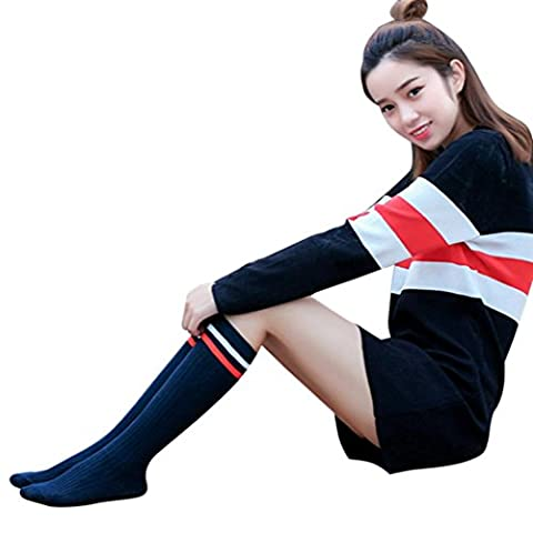 DAYLIN 1 Pair Women Comfortable Socks Ladies Girls Cotton Warm Soft Sox (Navy)