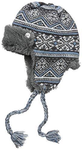 MUK LUKS Damen Women's Trapper Hat Hut für kaltes Wetter, Dark Grey Heather, Einheitsgröße (Wetter Hut Kaltem Damen)